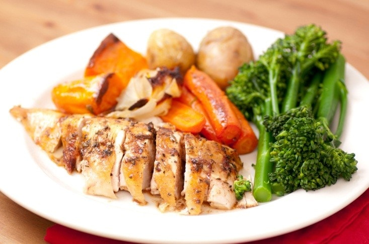 Roasted Chicken Breast and Vegetables