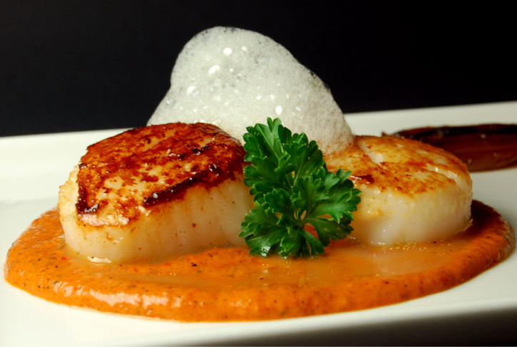 Scallops with Red Pepper Sauce Recipe