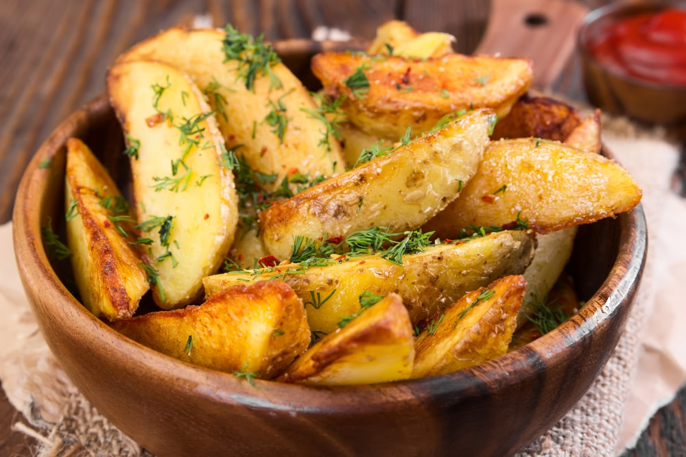 Air-Fried Potato WedgesRecipe